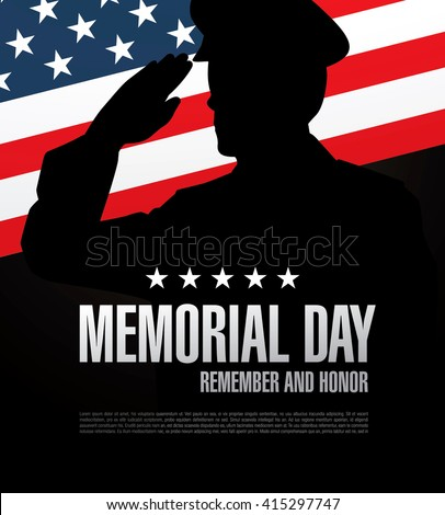 Shutterstock Memorial day. Remember and honor. Vector illustration