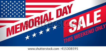 Memorial day sale banner template design