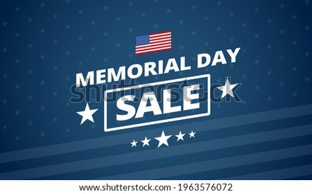 Memorial Day Sale vector background - Patriot colors USA