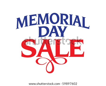Memorial Day Sale Vector Lettering