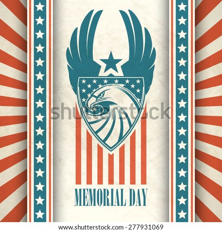 memorial day typographic card