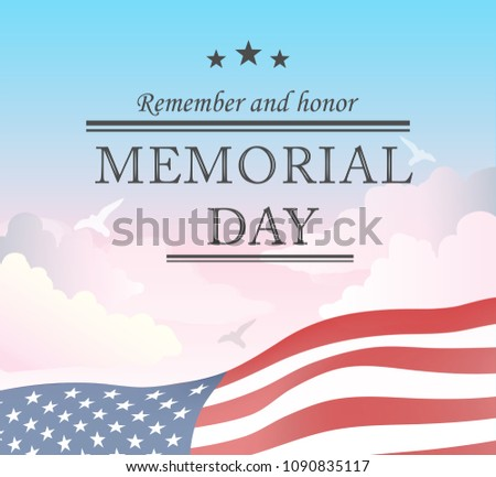 Memorial Day typography vector design for greeting cards and poster. Design template celebration. Vector illustration.