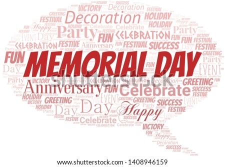 Memorial Day Word Cloud. Word cloud Made With Text.
