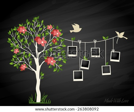 memories tree with photo frames
