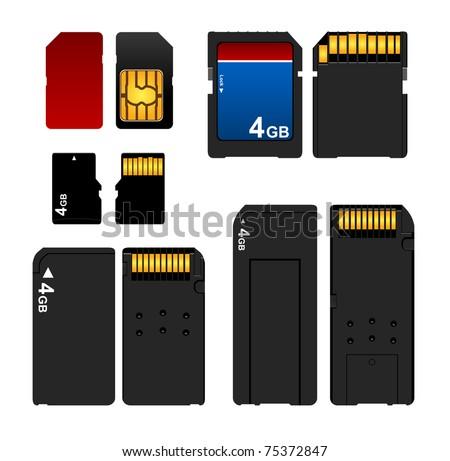 Memory card and sim set