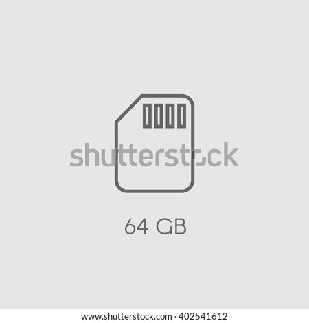 memory card flat vector icon