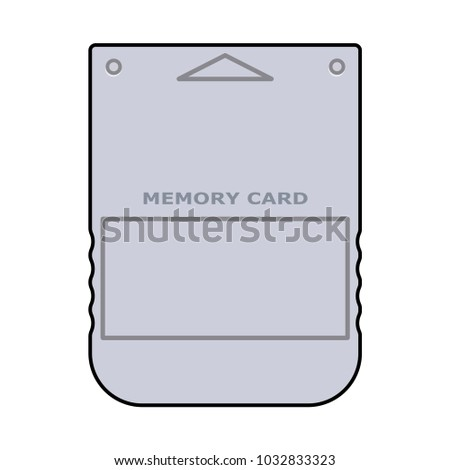 Memory card for Playstation icon in flat design