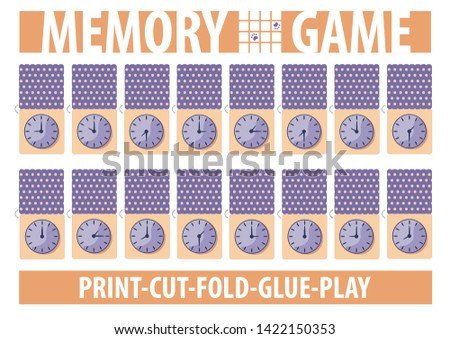 memory card game with clock