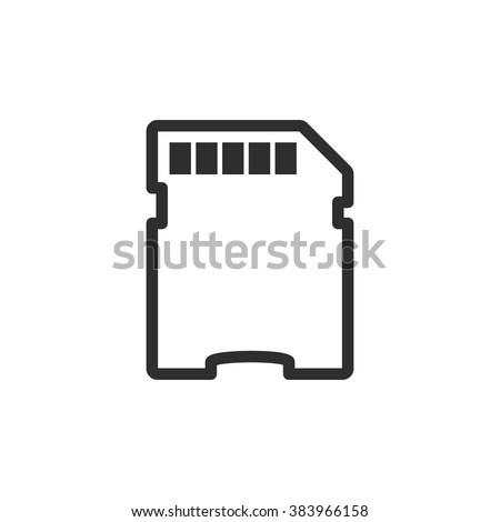 Memory card icon  on white background. Vector illustration.