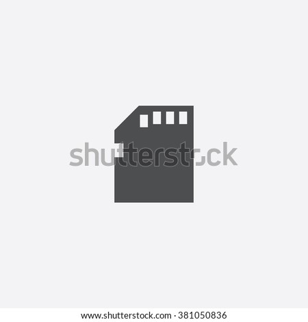 memory card icon vector memory