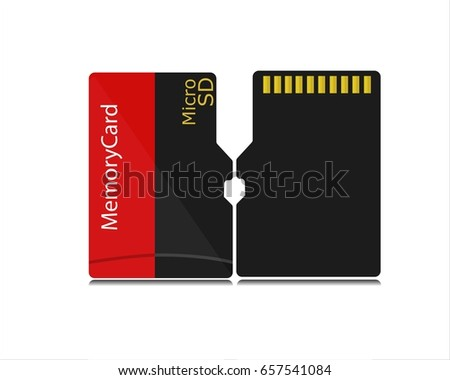 Memory Card,  Micro SD Card on white background.