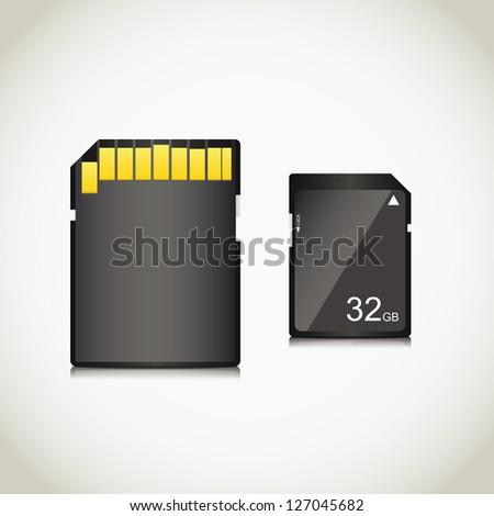 Memory card. Vector illustration