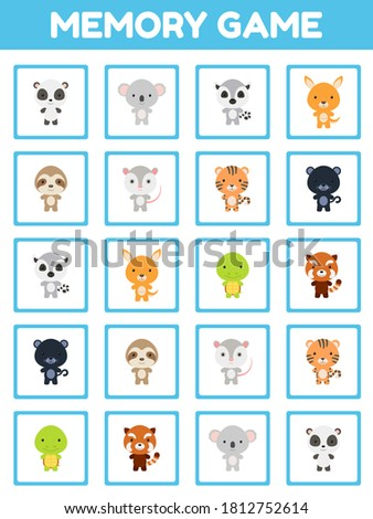 memory game with cute set