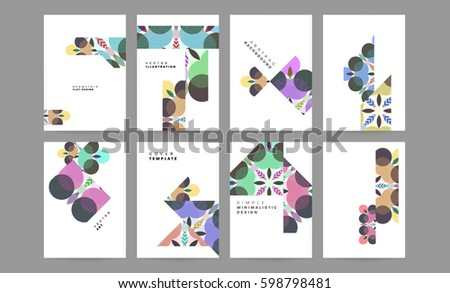 Memphis Geometric background Template for covers, flyers, banners, posters and placards, may be used for presentations and books, EPS10 vector illustration - Shutterstock ID 598798481