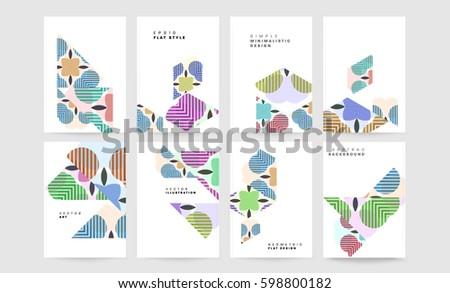 Colorful Memphis design magazine vector - Download Free