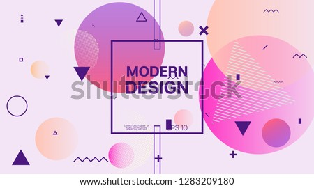 Memphis Modern Geometric Corporate Identity. Geometric Elements, Minimal Business Cover Template. Memphis Pattern Shape Corporate Identity Design. Neon Music Party Poster