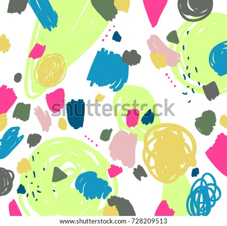 stock-vector-memphis-pattern-marker-brush-stroke-children-kids-sketch-drawing-abstract-background-vector
