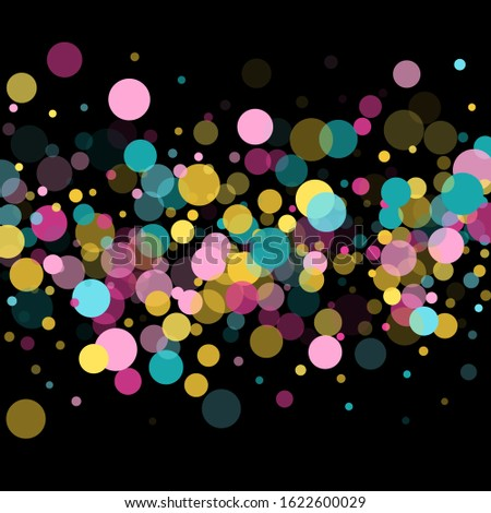 memphis round confetti creative
