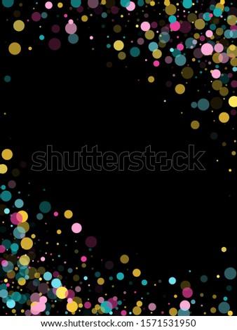 memphis round confetti vintage