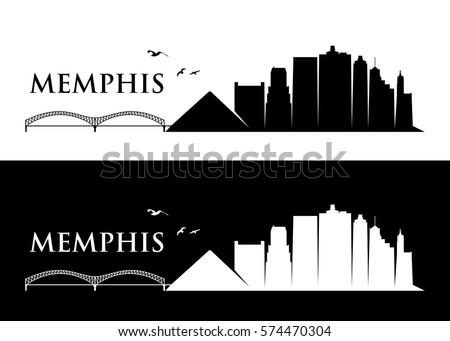 memphis skyline   tennessee