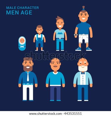 men age different generations