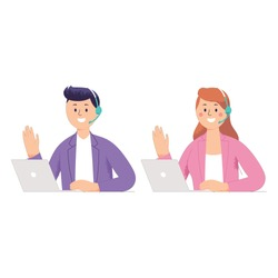 men and women as consumer experience or customer support who work receive phone calls from customers or receive complaints from them