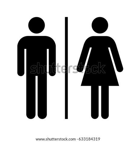 Men and women restroom icon sign. Washroom sign.