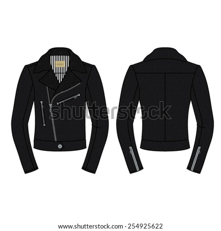 men biker jacket in black