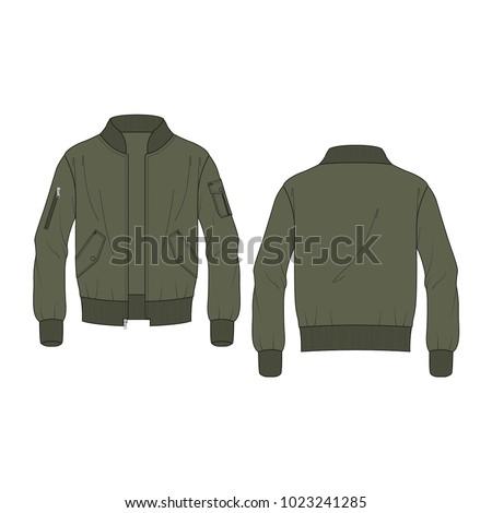 Men Classic Bomber Jacket