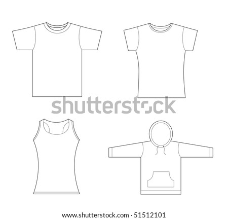 men girls t shirt sweatshirt template stock vector illustration 51512101 shutterstock. Black Bedroom Furniture Sets. Home Design Ideas
