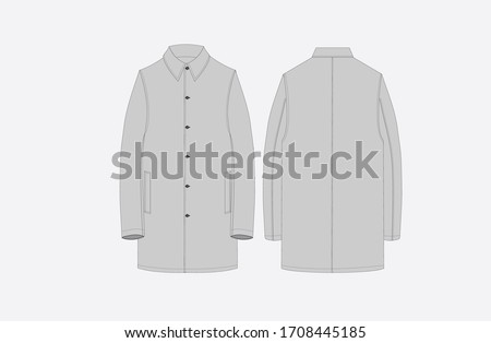 men long coat over all long style coat Stock photo ©
