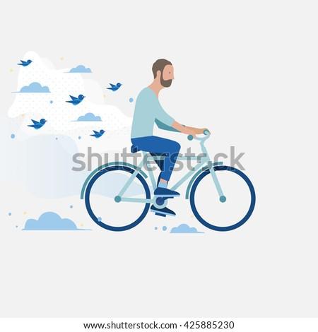 men riding a bike