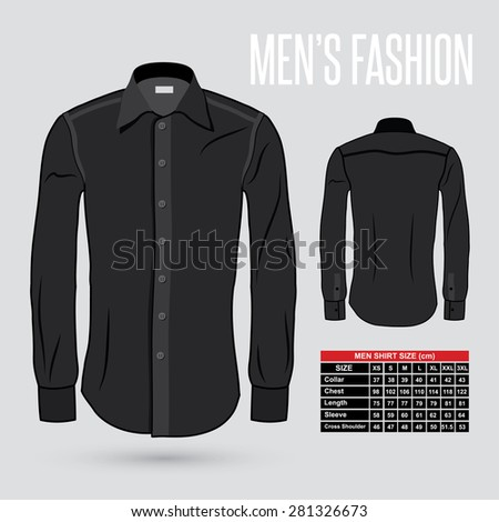 men's black dress shirt   front
