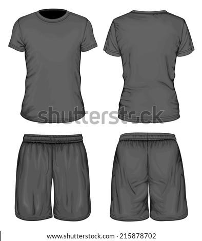 men's black short sleeve t