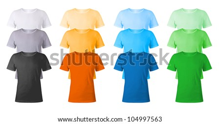 Men's blank t-shirts template