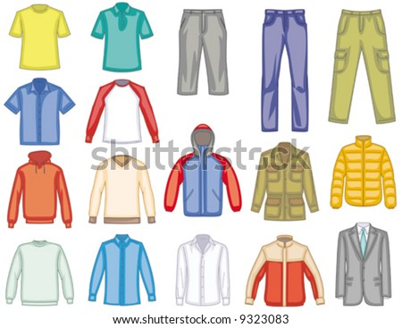 Men's clothes illustration  You'll find more similar images in my portfolio
