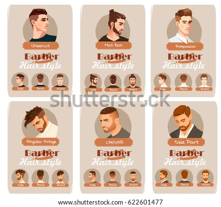men's haircut and hairstyle....