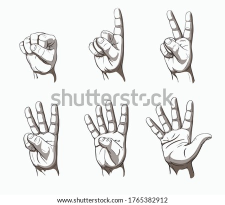 men's hand palm counting in