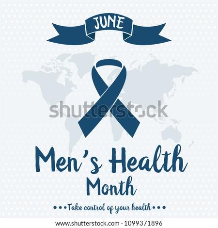Men's health month card or background. vector illustration