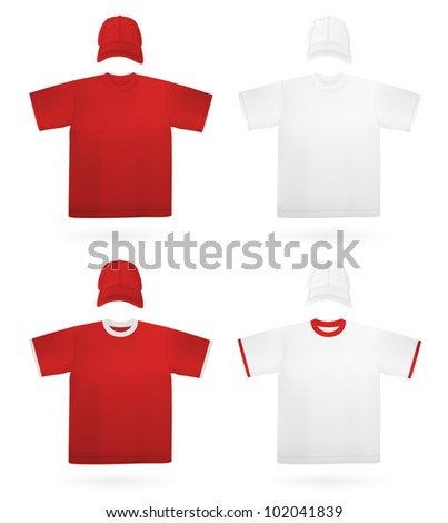 Men's plain t-shirt template.
