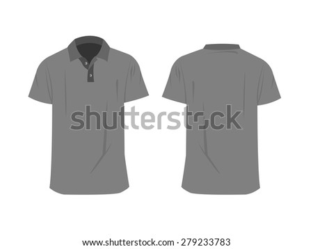 Mens Polo Shirts Template Front And Back Views Raster Version