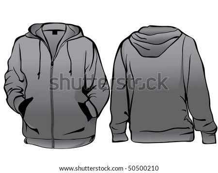 Men's sweatshirt template