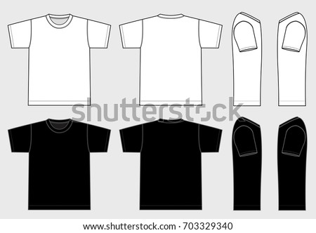 Men's T-shirts illustration [vector]