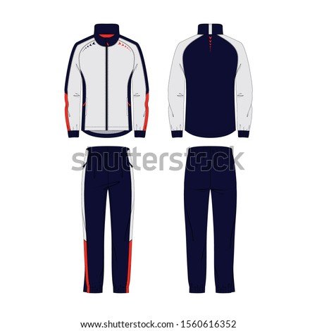 Men's tracksuit vector template for your design. Vector illustration. Stock photo ©