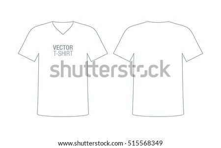 Mens V Neck Vector T Shirt Template