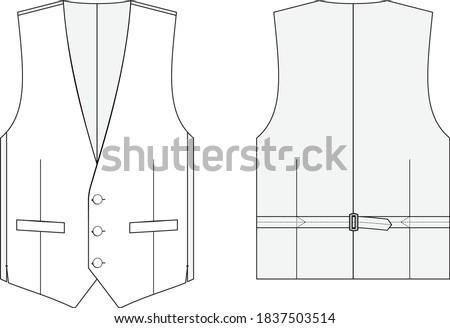 Men's Waistcoat 3-Button Vest Tailored Stock photo ©