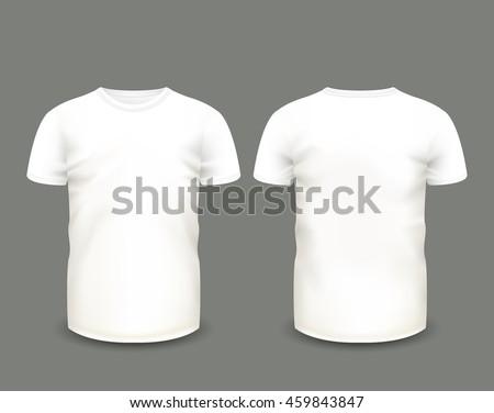 men's white t shirt with short