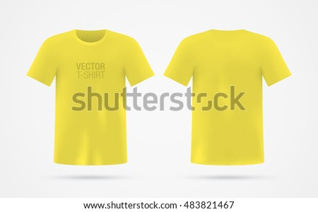 men's yellow vector t shirt