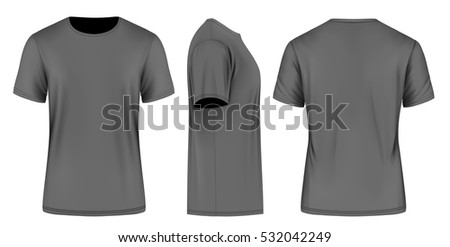 Free Black and White T-shirt Vector