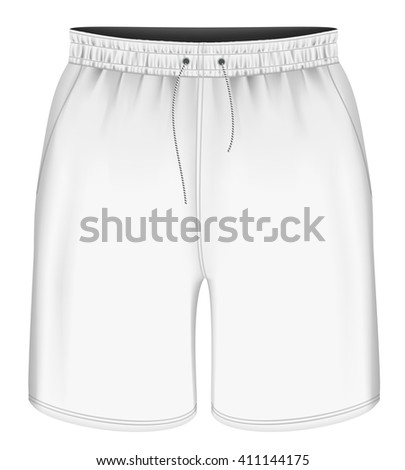 men sport shorts vector